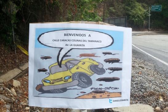 Calles del municipio Baruta en  alerta roja gracias a Hidrocapital