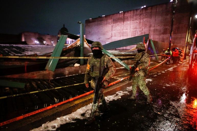 tormenta derrumba el techo del Templo Mayor de Ciudad de México