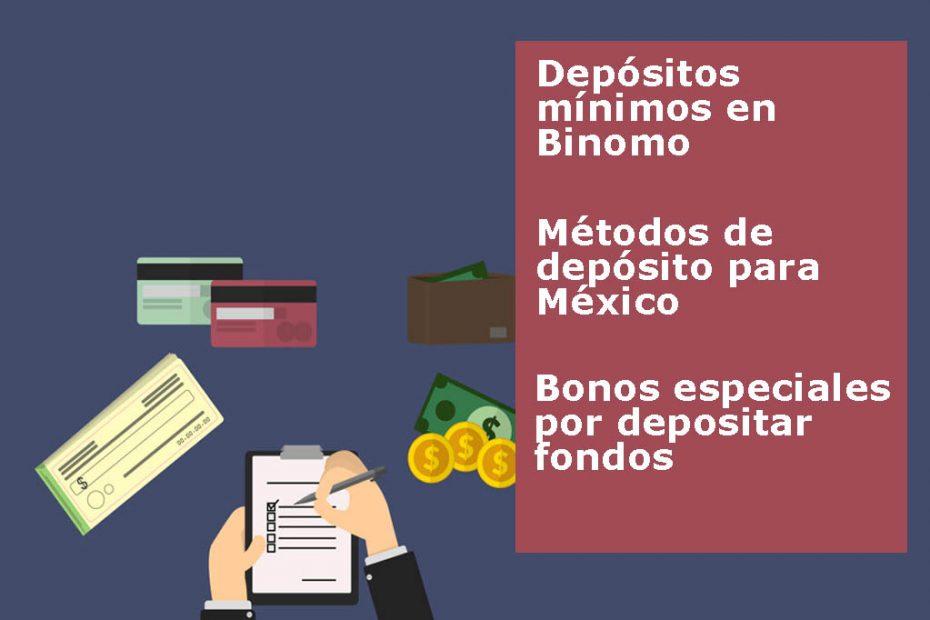 como depositar dinero en binomo
