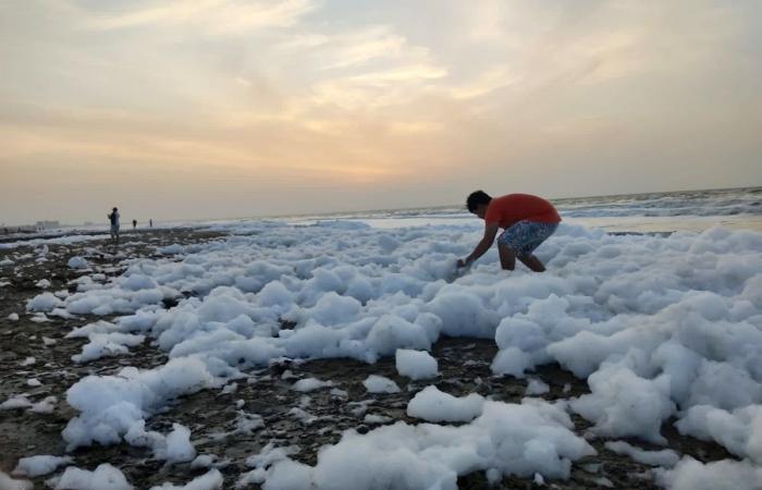 masiva de espuma de mar