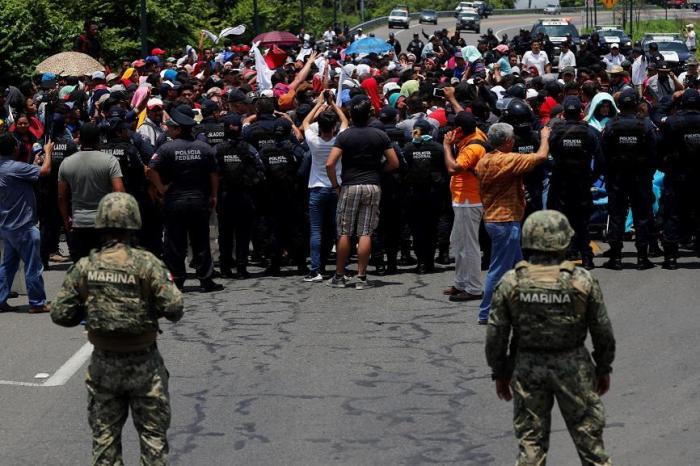 Guardia Nacional y agentes migratorios